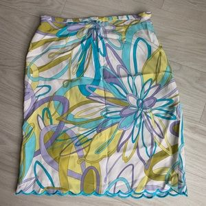 Grace elements floral skirt size 6 NWT